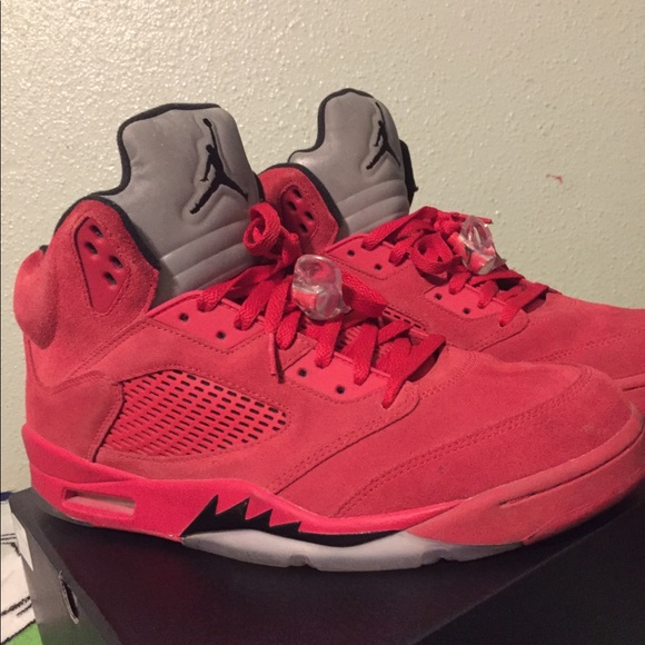 sneakers for cheap f1540 d0e56 Jordan 5 Retro Red Suede